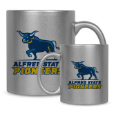 Full Color Silver Metallic Mug 11oz-Primary Mark - Athletics