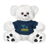 Plush Big Paw 8 1/2 inch White Bear w/Navy Shirt-Primary Mark - Athletics