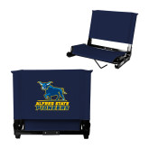 Stadium Chair Navy-Primary Mark - Athletics