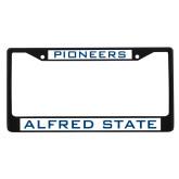 Metal License Plate Frame in Black-Pioneers