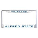 Metal License Plate Frame in Chrome-Pioneers