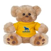 Plush Big Paw 8 1/2 inch Brown Bear w/Gold Shirt-Primary Mark - Athletics