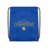 Royal Drawstring Backpack-Mens Golf Champions
