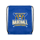 Royal Drawstring Backpack-2018 SIAC Baseball Champions