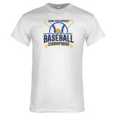White T Shirt-2018 SIAC Baseball Champions