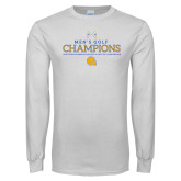 White Long Sleeve T Shirt-Mens Golf Champions