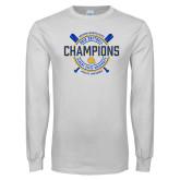 White Long Sleeve T Shirt-2018 SIAC Softball Champions