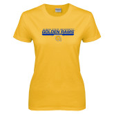 Ladies Gold T Shirt-Stacked Golden Rams Design
