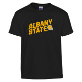 Youth Black T Shirt-Albany State Slanted