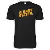 Next Level SoftStyle Black T Shirt-Albany State Slanted