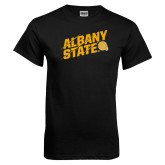 Black T Shirt-Albany State Slanted