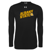 Under Armour Black Long Sleeve Tech Tee-Albany State Slanted