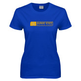 Ladies Royal T Shirt-Albany State Golden Rams