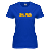 Ladies Royal T Shirt-Fear the Golden Rams