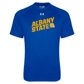 Under Armour Royal Tech Tee-Albany State Slanted