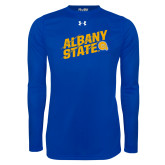 Under Armour Royal Long Sleeve Tech Tee-Albany State Slanted