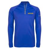 Under Armour Royal Tech 1/4 Zip Performance Shirt-Wordmark