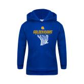 Youth Royal Fleece Hoodie-Basketball Net Design