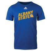Adidas Royal Logo T Shirt-Albany State Slanted