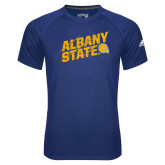 Adidas Climalite Royal Ultimate Performance Tee-Albany State Slanted