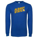 Royal Long Sleeve T Shirt-Albany State Slanted