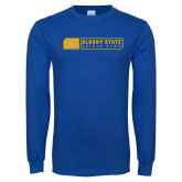 Royal Long Sleeve T Shirt-Albany State Golden Rams