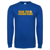 Royal Long Sleeve T Shirt-Fear the Golden Rams
