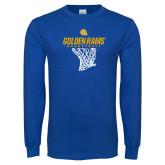 Royal Long Sleeve T Shirt-Basketball Net Design