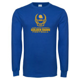 Royal Long Sleeve T Shirt-Football Helmet Design