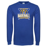 Royal Long Sleeve T Shirt-2018 SIAC Baseball Champions