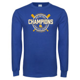 Royal Long Sleeve T Shirt-2018 SIAC Softball Champions