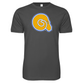 Next Level SoftStyle Charcoal T Shirt-Primary Mark