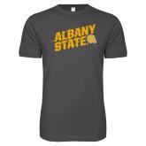 Next Level SoftStyle Charcoal T Shirt-Albany State Slanted