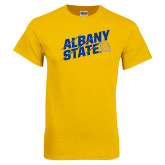 Gold T Shirt-Albany State Slanted