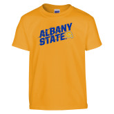 Youth Gold T Shirt-Albany State Slanted
