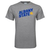 Grey T Shirt-Albany State Slanted