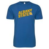 Next Level SoftStyle Royal T Shirt-Albany State Slanted