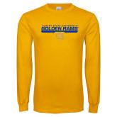 Gold Long Sleeve T Shirt-Stacked Golden Rams Design