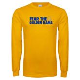 Gold Long Sleeve T Shirt-Fear the Golden Rams
