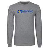 Grey Long Sleeve T Shirt-Albany State Golden Rams