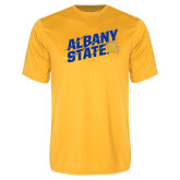 Performance Gold Tee-Albany State Slanted