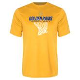 Performance Gold Tee-Basketball Net Design