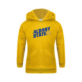 Youth Gold Fleece Hoodie-Albany State Slanted