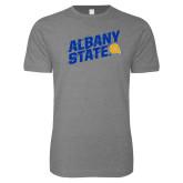 Next Level SoftStyle Heather Grey T Shirt-Albany State Slanted