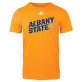 Adidas Gold Logo T Shirt-Albany State Slanted