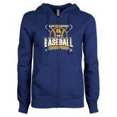 ENZA Ladies Royal Fleece Full Zip Hoodie-2018 SIAC Baseball Champions