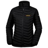 Columbia Powder Lite Ladies Black Jacket-Wordmark