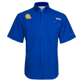 Columbia Tamiami Performance Royal Short Sleeve Shirt-Primary Mark
