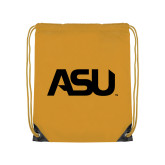 Gold Drawstring Backpack-ASU