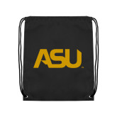 Black Drawstring Backpack-ASU